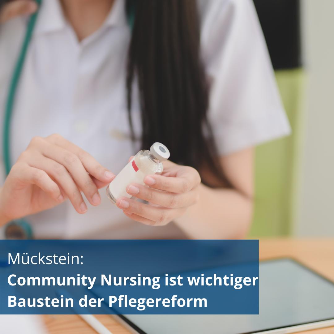 Mückstein: Community Nursing ist wichtiger Baustein der Pflegereform